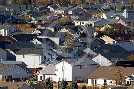 Housing developements contribute to urban sprawl in Boise, Idaho.