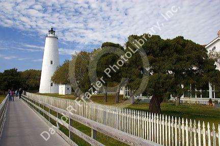 Ocracoke Lighthouse on Ocracoke Island in North Carolina.