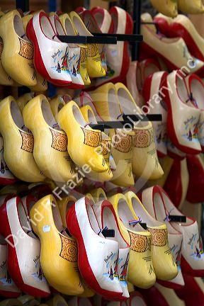 A Display Of Holland Wooden Shoes In Amsterdam Netherlands David