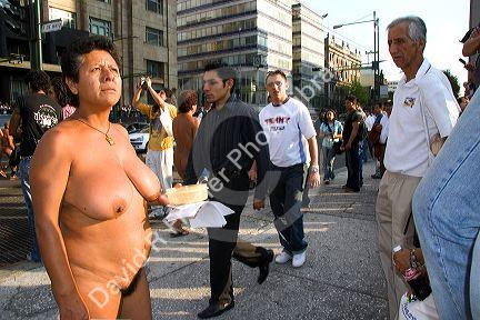 protest Mexican naked