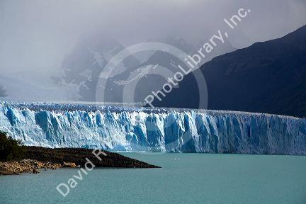 The Perito Moreno Glacier located in the Los Glaciares National Park in the south west of Santa Cruz province, Patagonia, Argentina.