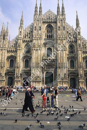 The gothic Duomo in Milan, Italy.