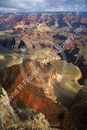 South Rim view of the Grand Canyon, Arizona, USA.