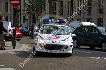 French National Police Car In Paris France David R Frazier