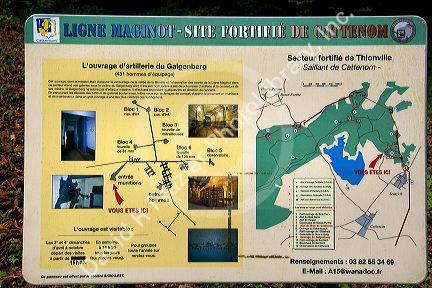 Tourist map for the Maginot Line in Alsace northeast France