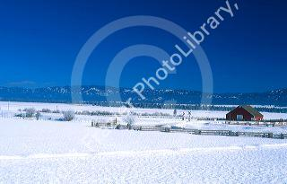 Cabarton Ranch in Valley County Idaho during winter    David