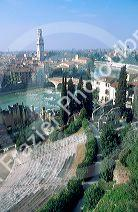 Overview of Verona, Italy.