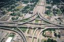 Freeway interchange in Houston, Texas.
