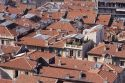 Tile rooftops in Chauvigny, France.