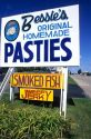 Pastie shop in St. Ignace, Michigan.  Also known as Pasty, these meat pies are popular in the Upper Penninsula of Michigan.