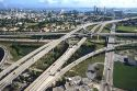 I-95 freeway system in Miami, Florida.