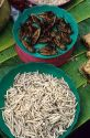 Insects and worms being sold as food in Thailand.