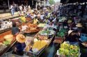Floating market near Bangkok, Thailand.