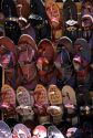 A display of shoes being sold in Bangalore, India.