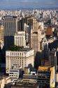 A view of Sao Paulo from atop the Edificio Italia building, Brazil.