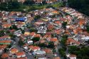 Aerial view of housing in Sao Paulo, Brazil.