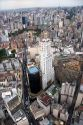 Aerial view of high rise buildings in Sao Paulo, Brazil.