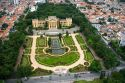 Aerial view of the formal garden at the Museu Paulista in Sao Paulo, Brazil.