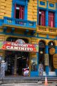 Colorful store front in the La Boca area of Buenos Aires, Argentina.
