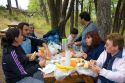 Family having a picnic in Los Glaciares National Park in Patagonia, Argentina.