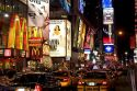 Broadway theatres in midtown-Manhattan, New York City, New York, USA.