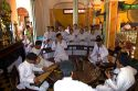 Musicians play music during a Cao Dai ceremony inside the Tay Ninh Holy See in Tay Ninh, Vietnam.
