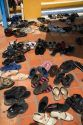 Shoes that have been removed to enter the Cao Dai Tay Ninh Holy See in Tay Ninh, Vietnam.