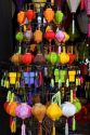 Colorful silk lanterns being sold in Hoi An, Vietnam.