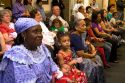 African grandmother attending a United States citizenship ceremony in Idaho, USA.