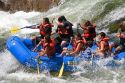 Whitewater rafting the main Payette River in southwestern Idaho, USA.