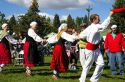 The Oinkari Basque Dancers perform at the Trailing of the Sheep Festival in Hailey, Idaho, USA.