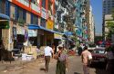 Street scene and pedestrians in central (Rangoon) Yangon, (Burma) Myanmar.
